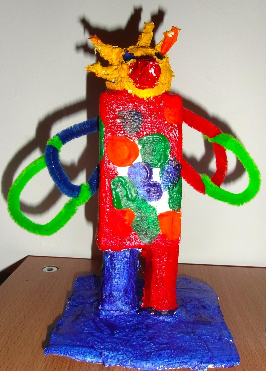 der Feuervogel nach Niki de Saint Phalle Kunstprojekt mit 4. Klässlern
