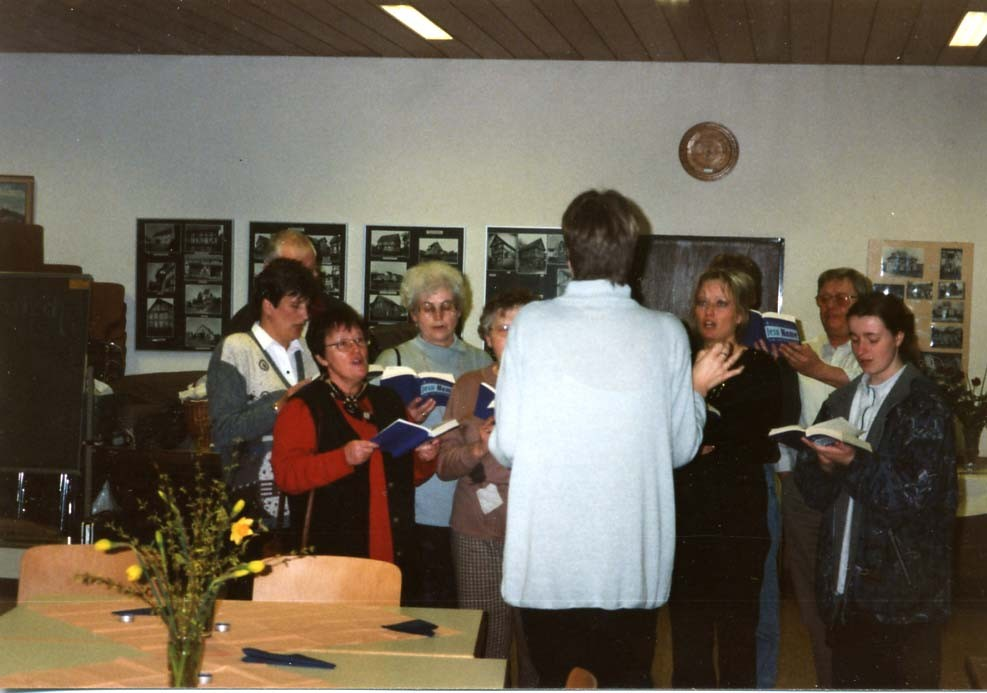 Der Chor der Stadtmission probt in 2005.