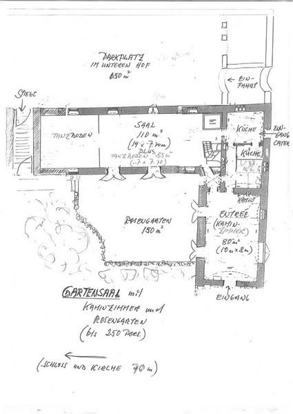 Gartensaal mit Kaminzimmer