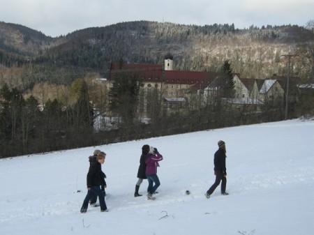 Tage der Orientierung in Kloster Beuron im Februar 2009, Schüler der Absolvia 2011 (G 8). Auch die weiteren Bilder dieser Seite stammen vom Aufenthalt der damaligen 10a und 10b.