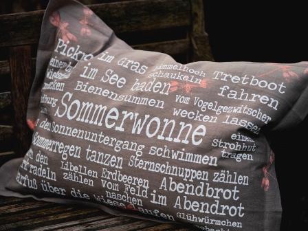 Sommerwonne | 70x50 |100% Leinen | inkl Federinlet | 54,€