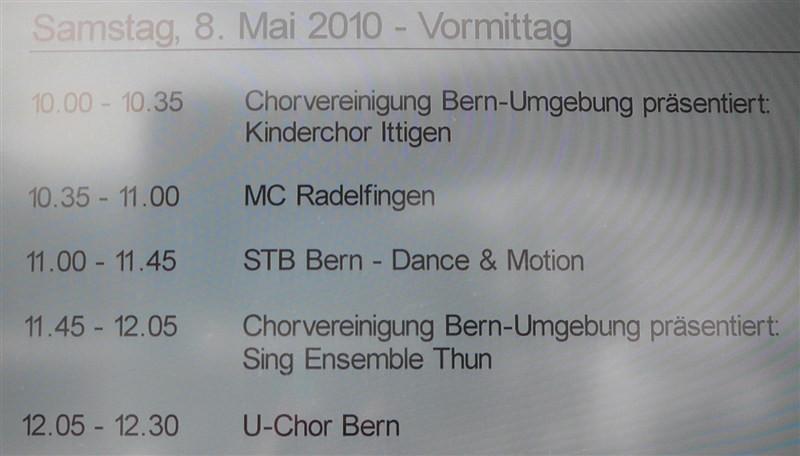Auftritt auf der BEA-Bühne, 08.05.2010