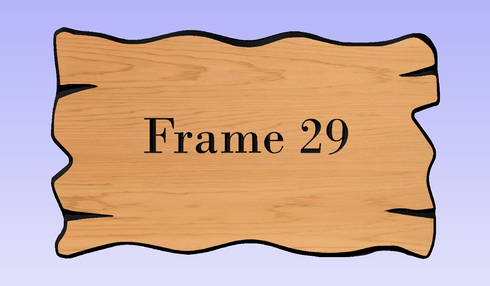 This frame works well with any size sign.