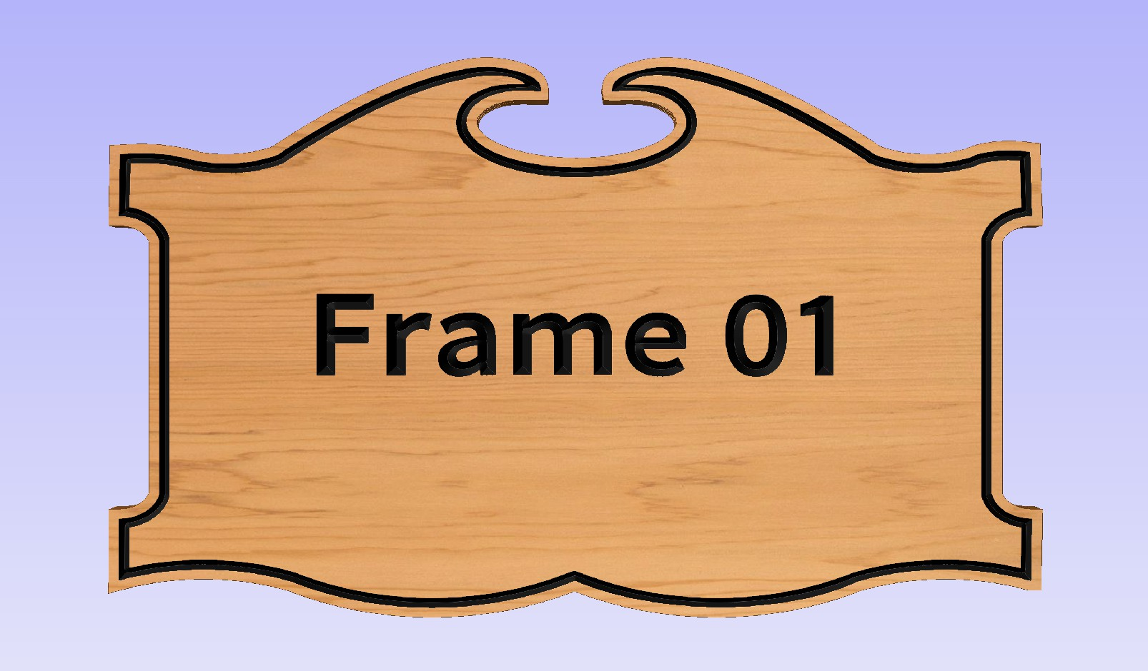 """This Frame requires a 13.5"""" x 23"""" or larger sign."""