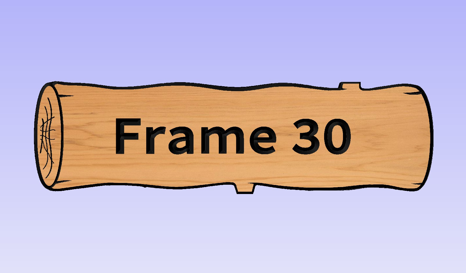This Frame works only with a 1 board sign.