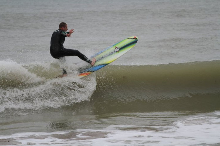 Surfing at Joss Bay. Image via kentsurf.com