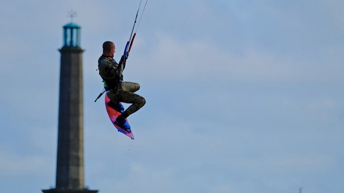 Kiteboarding in Ramsgate - image Malcolm Kirkaldie via The Isle of Thanet News