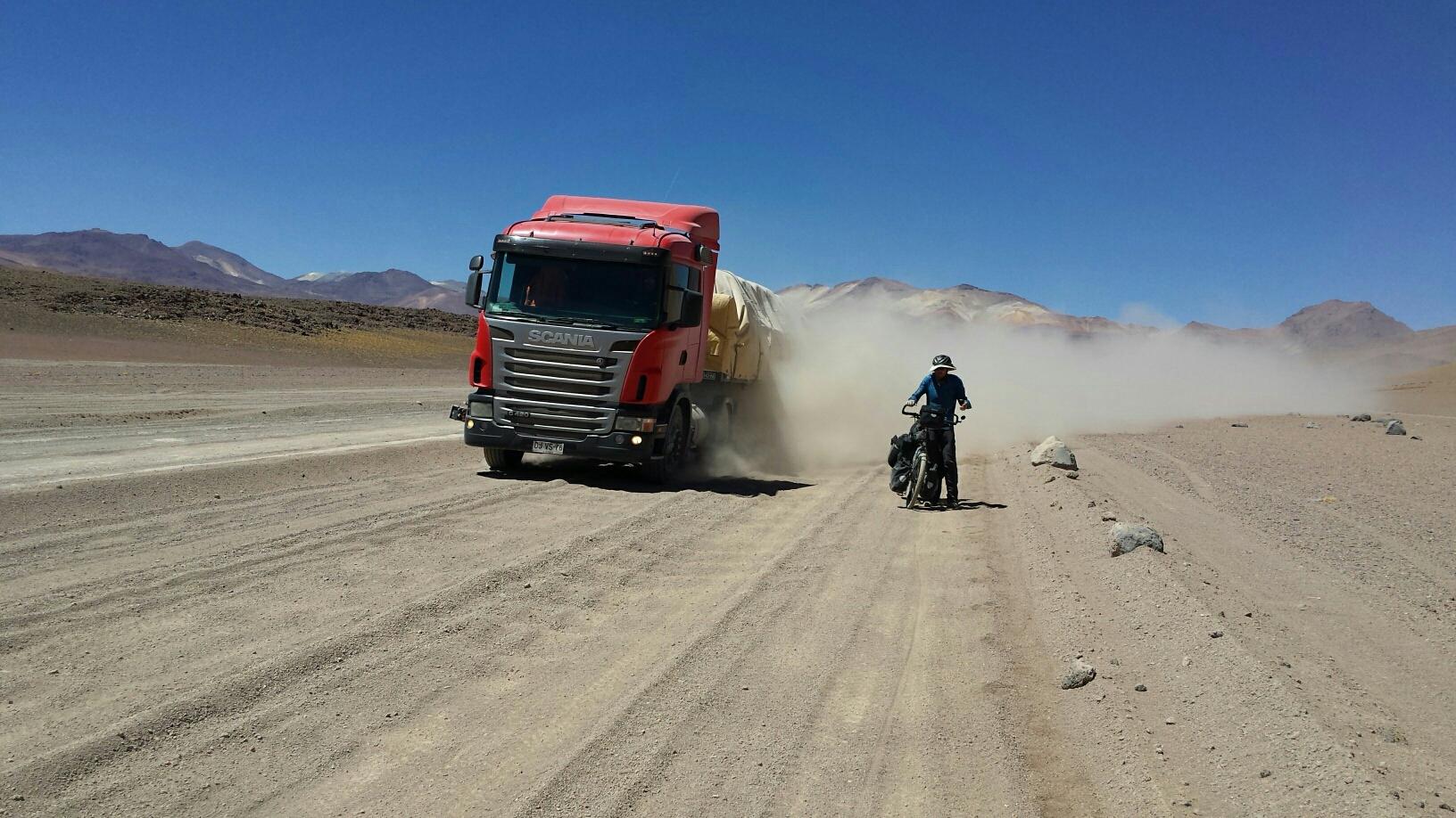 Sandy roads in Bolivia