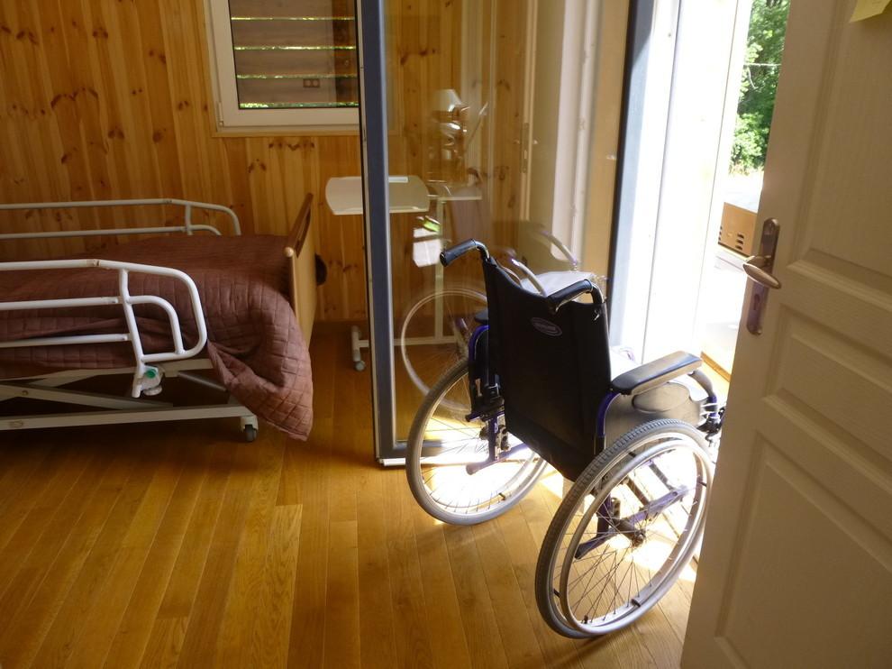 accès direct sur la terrasse depuis  la chambre
