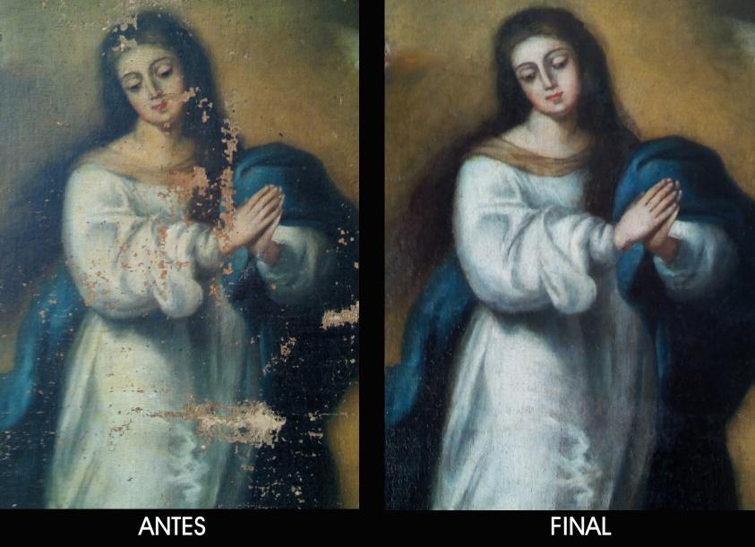 Det.1 restauración Inmaculada murillesca