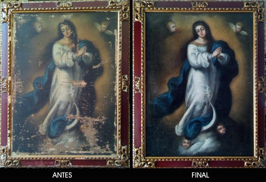 Restauración Inmaculada murillesca S. XVIII