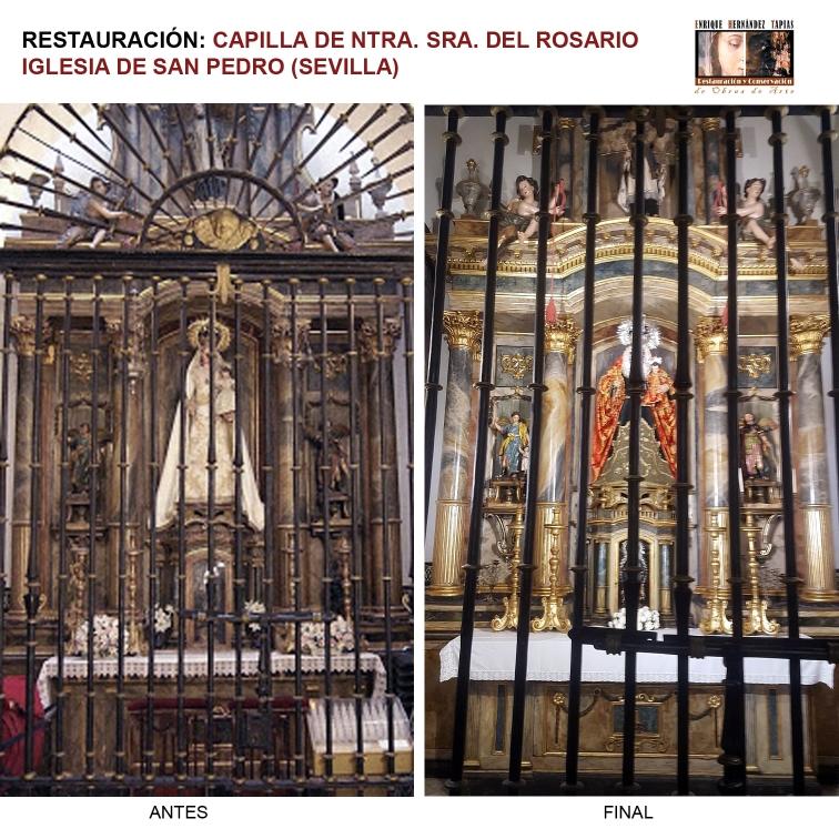 Restauración Capilla del Rosario de la Iglesia de San Pedro de Sevilla