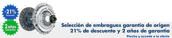 Pincha para acceder a la oferta del 21%  de Dto. en embragues