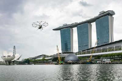 MAG Lifestyle Magazin Volocopter Flugtaxi Pionier für Urban Air Mobility Singapur Marina Bay