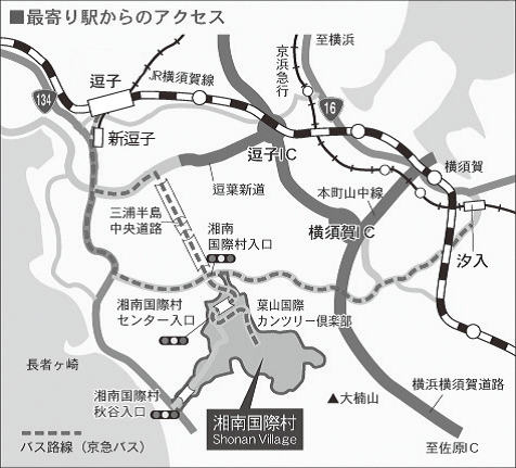 めぐりの森アクセスマップ