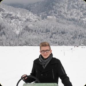 Snowy Schloss Neuschwanstein