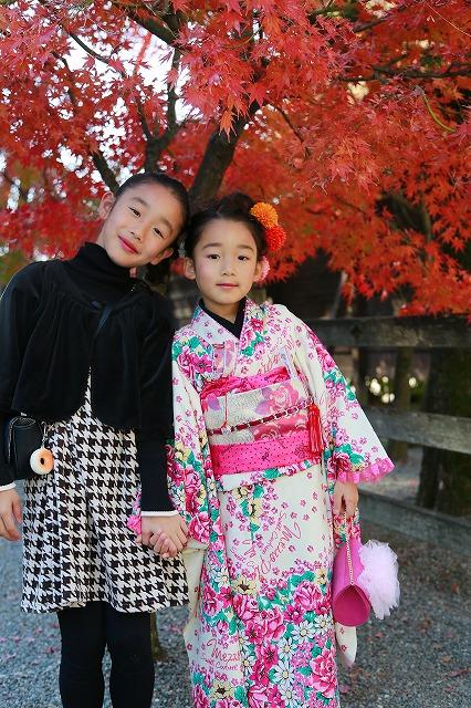 武田神社にて七歳女の子の七五三写真