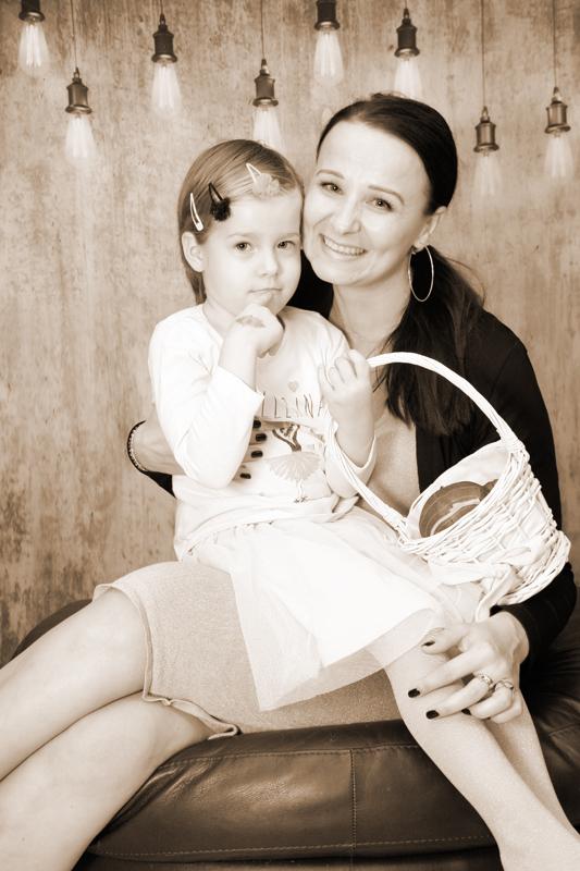 Kinderfotografie, Mama mit Maidli