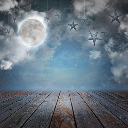 Mond und Sterne - Baby Fotoshooting