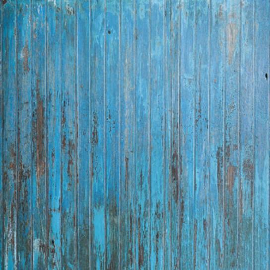 blauer Bodenuntergrund in rustikaler Holzoptik für Babyfotoshooting