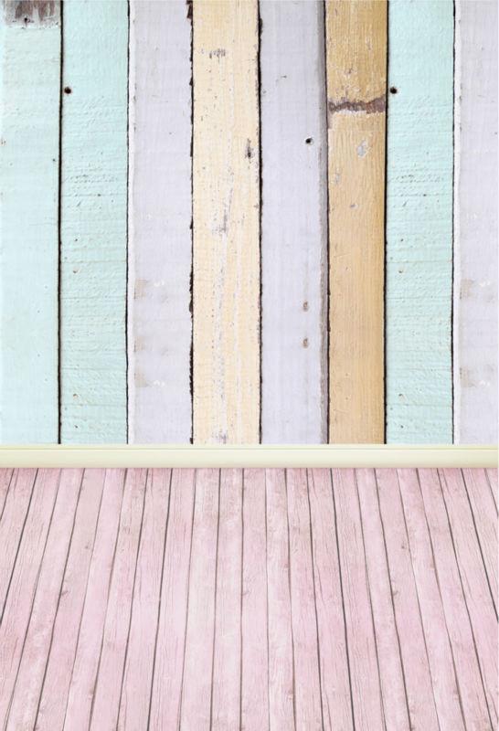Newborn Fotoshooting Hintergrund - Pastell Holz