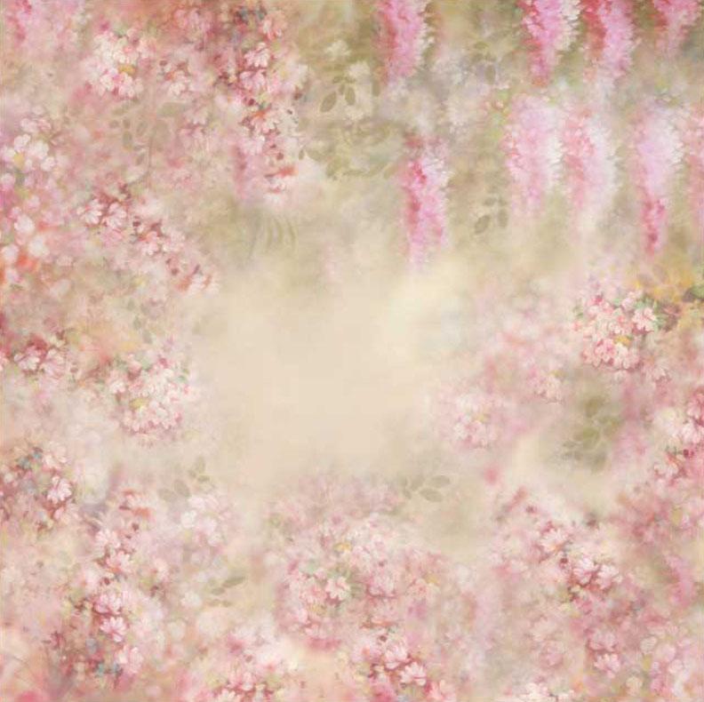 Baby, Kinder u. Familienfotoshooting Background - zartes Rosa mit Blumen