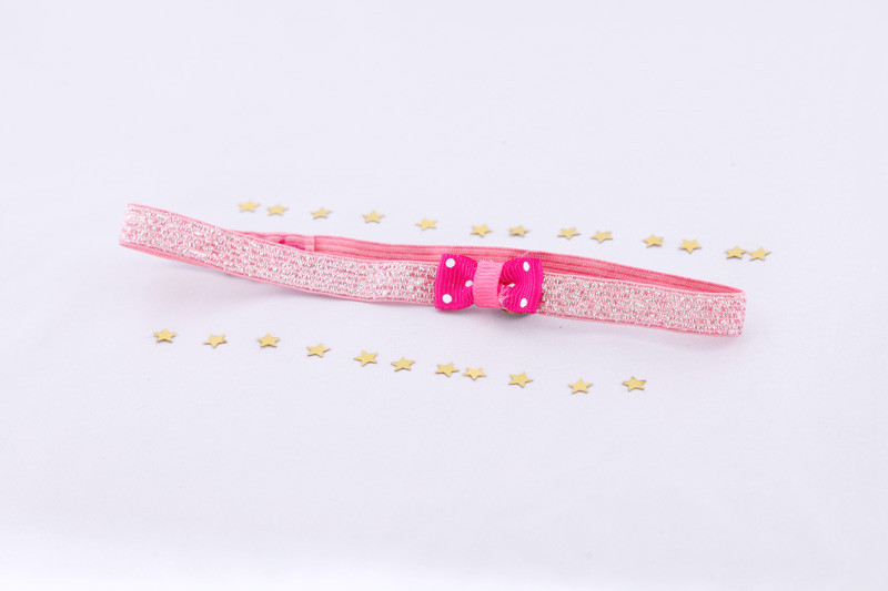 Baby Fotografie Kopfschmuck in rosa mit Schleife