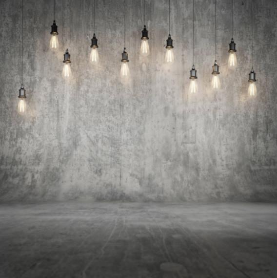 grauer Fotobackground mit Lichtern für verschiedene Fotoshootings