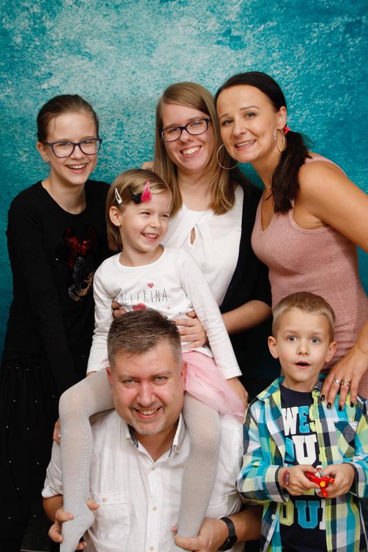 Familienfotoshooting zu Hause