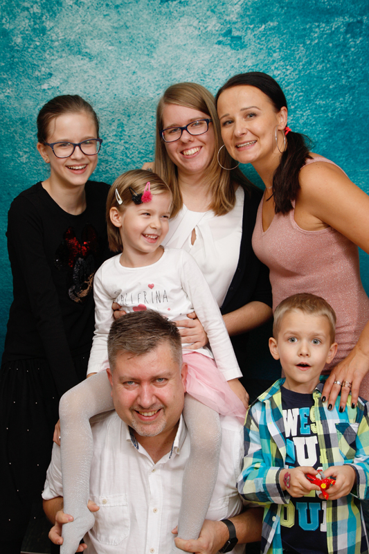 Familienfotoshooting zu Hause
