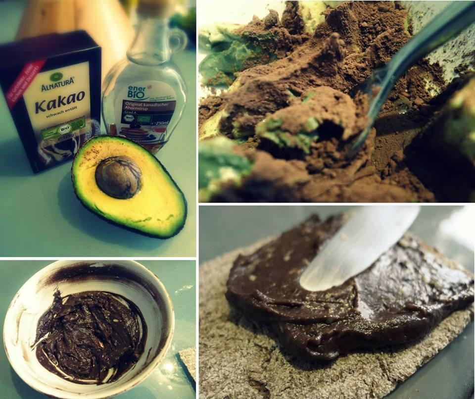 Vegetarische Nutella aus Avocado und Kakao