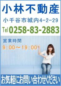 小林不動産では小千谷市、長岡市など新潟県中越地域のアパート、マンション、建物、土地など不動産住宅情報を提供しています。