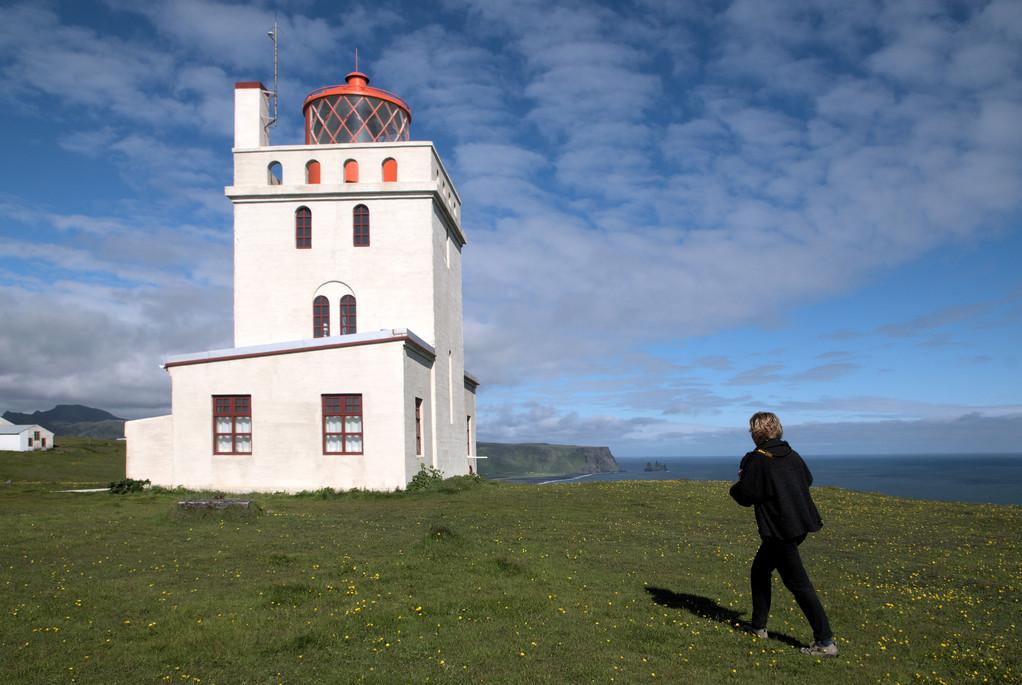 Leuchtturm bei Vik i Myrdal