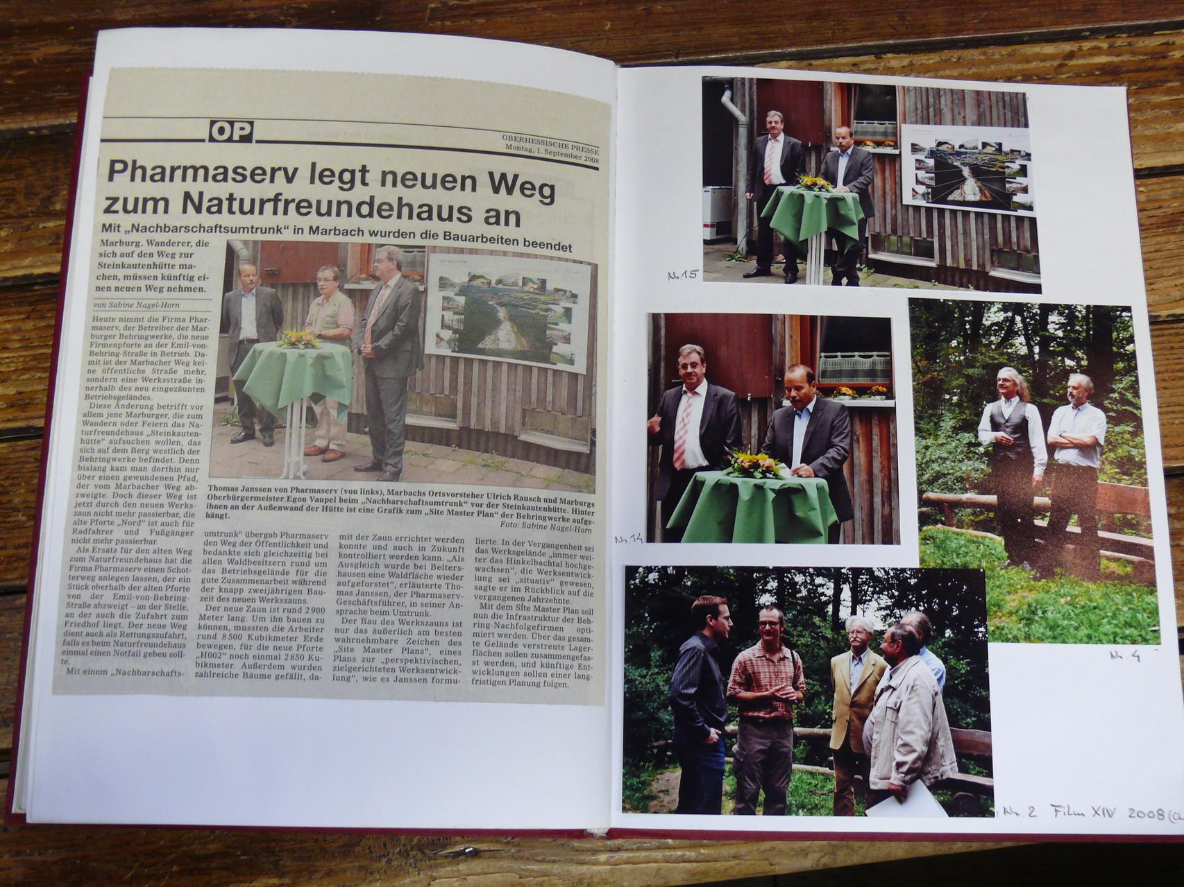 2008 - Freigabe neuer Weg zur SteinkautenHütte