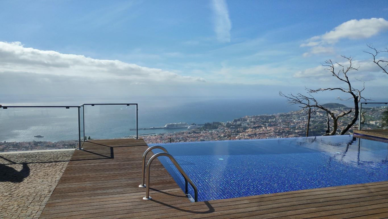Infinity Pool looking over Funchal