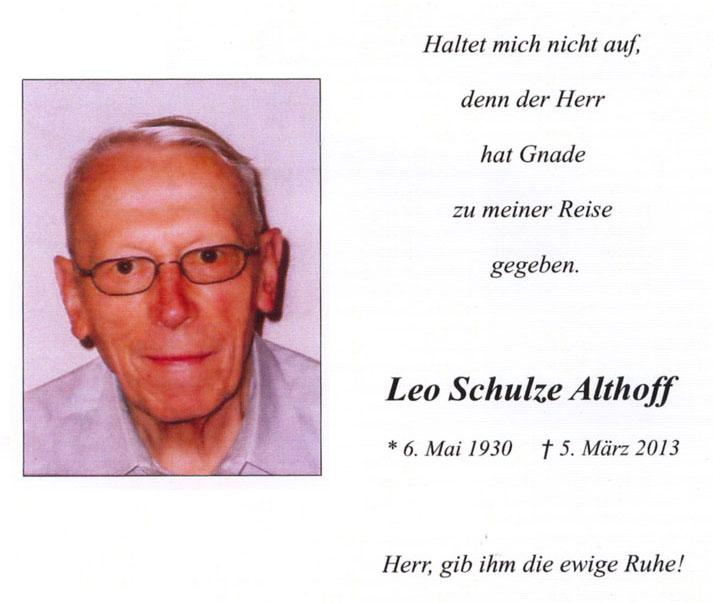 Totenzettel Leo Schulze Althoff