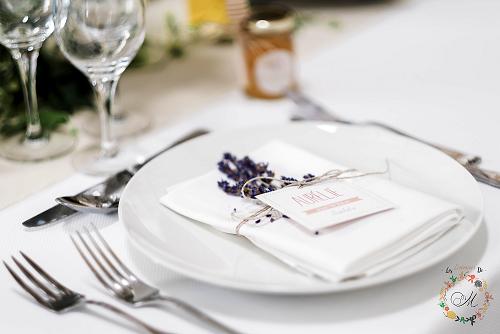 détail lavande décoration mariage