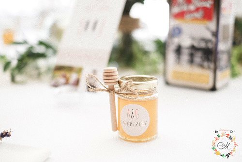 petit pot de miel cadeau mariage