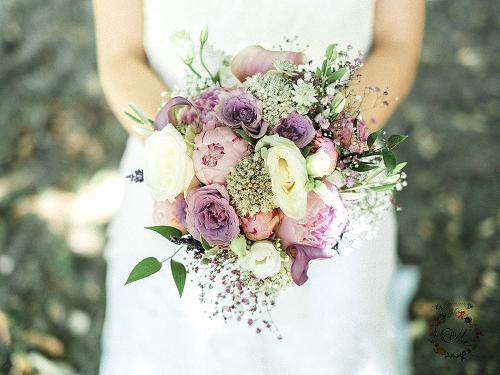 bouquet de la mariage couleur pastel