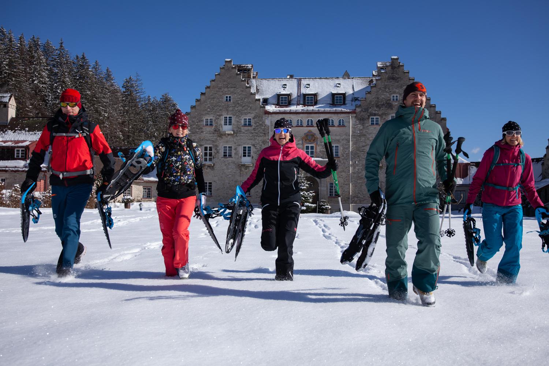 Schneeschuh-Shooting für Das Kranzbach