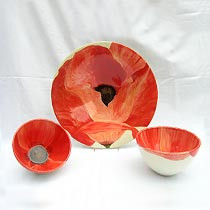 Keramik handbemalt - Mohnblume
