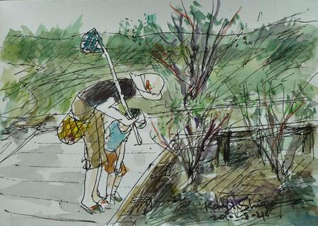 神奈川県藤沢市・引地川親水公園での夏休み