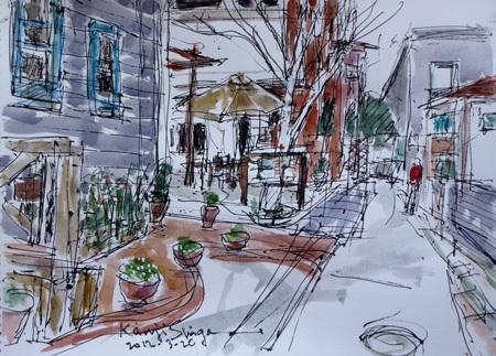 鎌倉市・小町の新しい路地