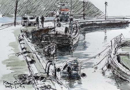 藤沢・片瀬漁港の漁船