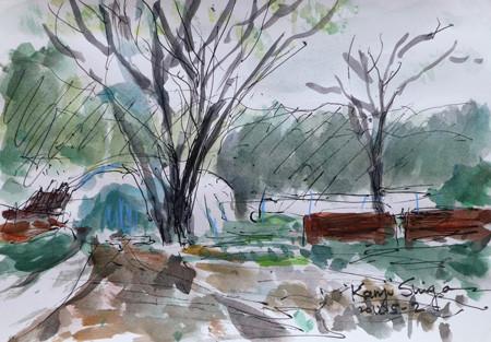 藤沢市・石川の畑のビニールハウス