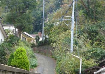 鎌倉・長谷の山の上の家々