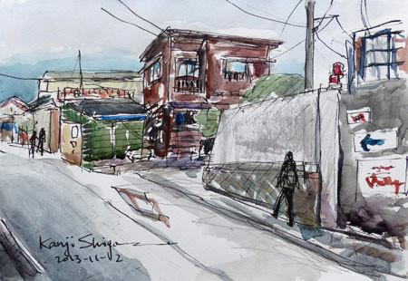 神奈川県・大磯の坂道