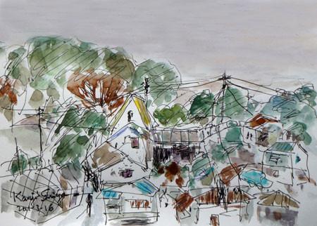 神奈川県・真鶴町の家々