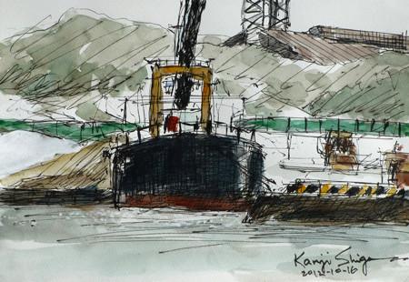横浜・横浜ベイサイドマリーナ沖のガット船