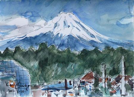 藤沢市・善行から観た富士山